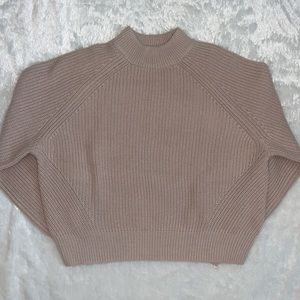 H&M Oversized Chunky Knitted Cropped Sweater Sz XS